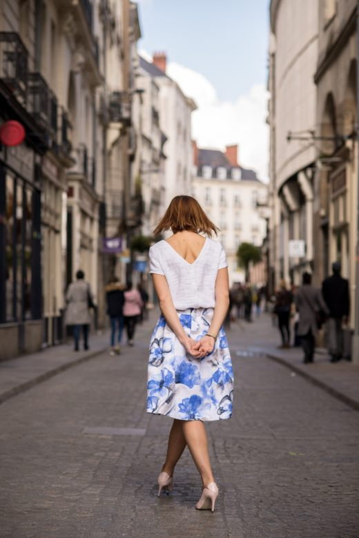 jupe claudie blue julie laurent haute couture collection printemps 2018 made in france